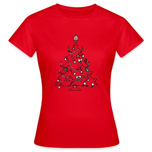 weinach baum - Frauen T-Shirt