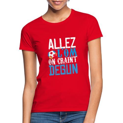 Nouvelle ligne Allez l'OM - T-shirt Femme
