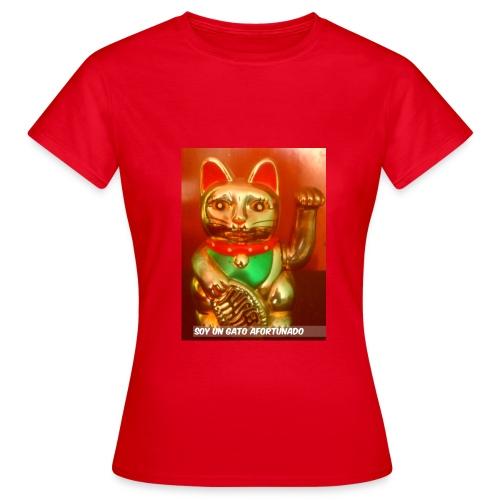 Gato de la suerte - Camiseta mujer