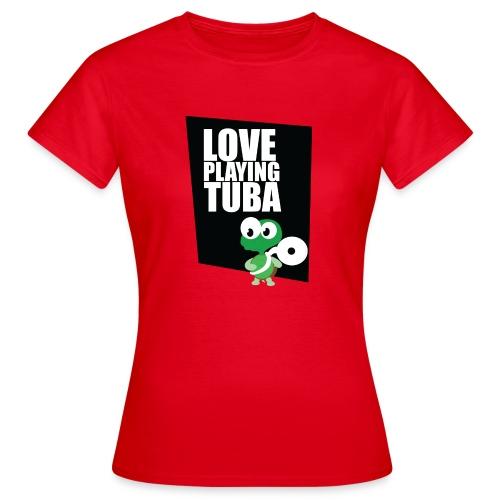 tuba schildpad2 - Vrouwen T-shirt