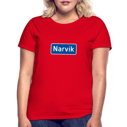 Narvik veiskilt, fra Det norske plagg - T-skjorte for kvinner