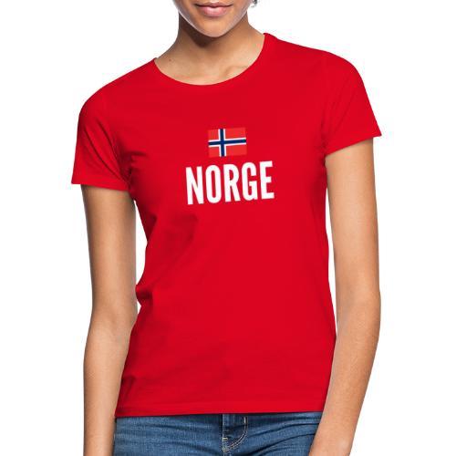 Norge - T-skjorte for kvinner