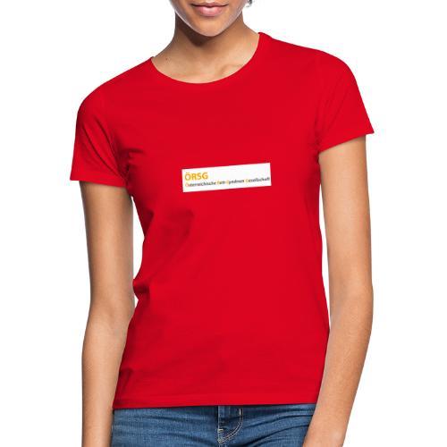 Text-Logo der ÖRSG - Rett Syndrom Österreich - Frauen T-Shirt