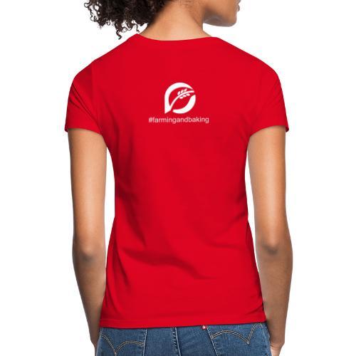 farningandbaking onlywhite - Frauen T-Shirt