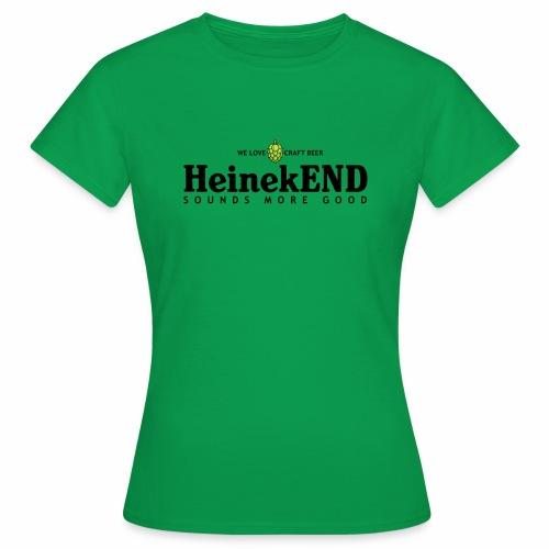 HeinekEND scritta nera - Maglietta da donna