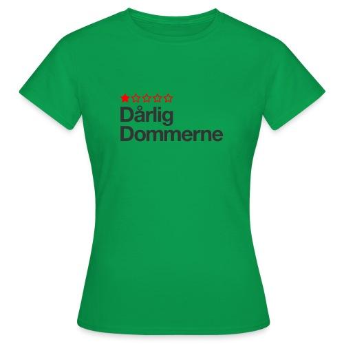 Dårligdommerne Sort tekst - Dame-T-shirt