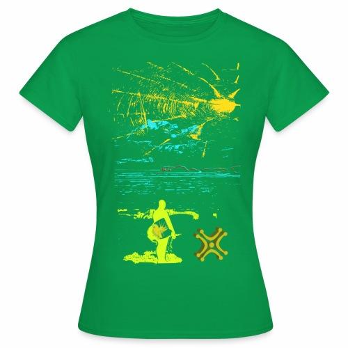 Sol y Mar de Adiswebs - Camiseta mujer