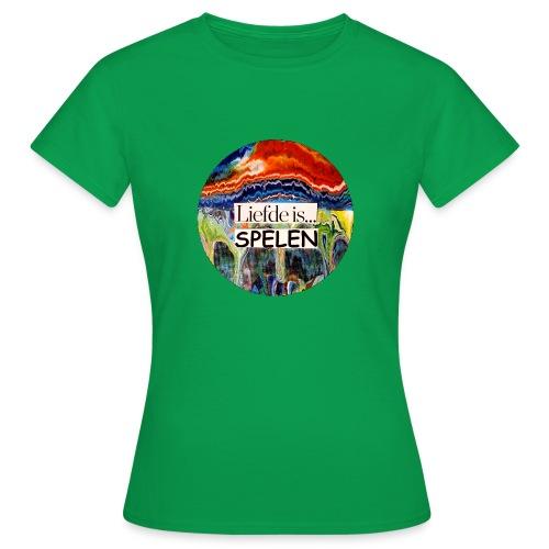 Liefde is spelen - Vrouwen T-shirt