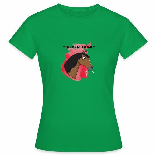 EH FILS DE CH'VAL Rouge - T-shirt Femme