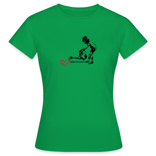 liebe ist cool - Frauen T-Shirt
