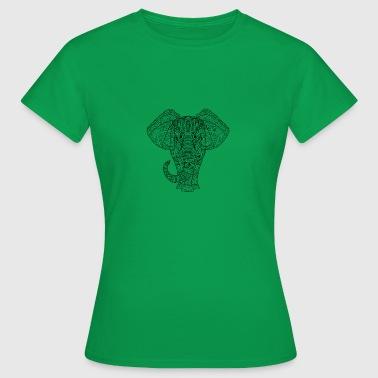 Elefant in schwarz - Frauen T-Shirt