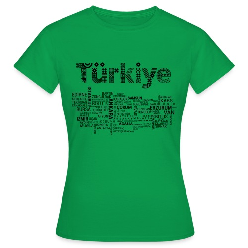 TürkiyeHaritasi Siyah - Frauen T-Shirt