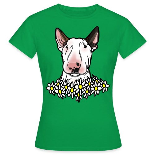 Bullterrier Daisies - Women's T-Shirt