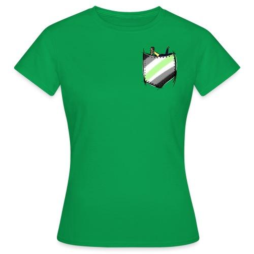 pocket agender flag - T-shirt Femme