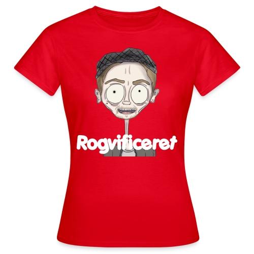 Rogvificeret Merch - Hvid tekst. - Dame-T-shirt