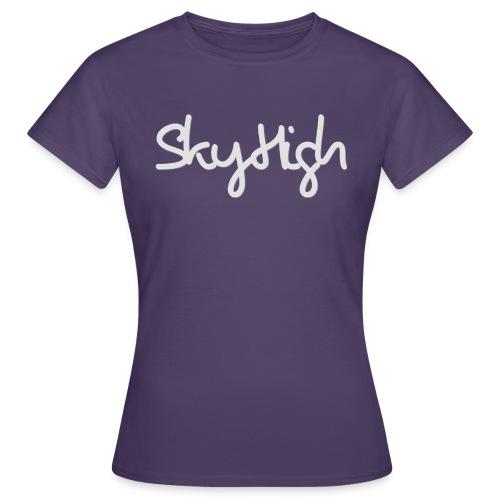 SkyHigh - Women's Premium T-Shirt - Gray Lettering - Women's T-Shirt