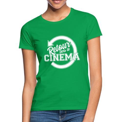 Logo blanc Retour vers le Cinéma - T-shirt Femme