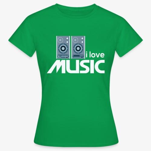 Amo la música 02 - Camiseta mujer