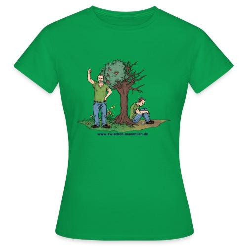zwischen maennlich - Frauen T-Shirt