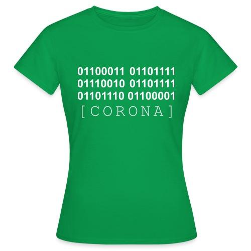CORONA Binaer Maske BW - Frauen T-Shirt