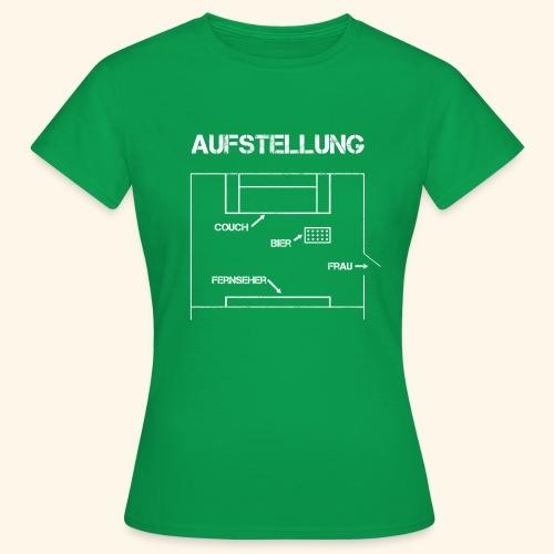 Fussball Aufstellung Weltmeisterschaft Geschenk - Frauen T-Shirt