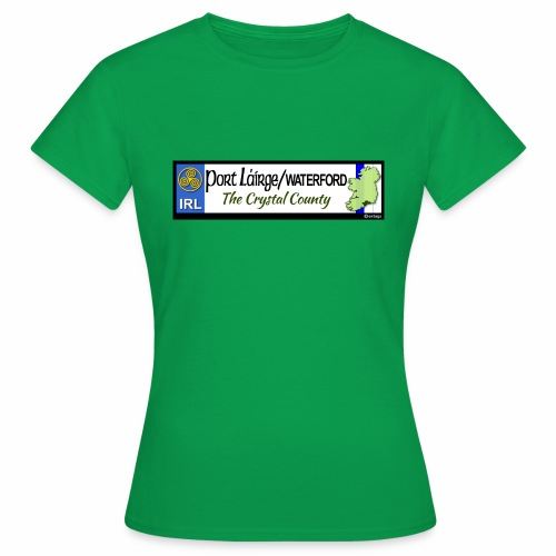 WATERFORD, IRELAND: licence plate tag style decal - Women's T-Shirt