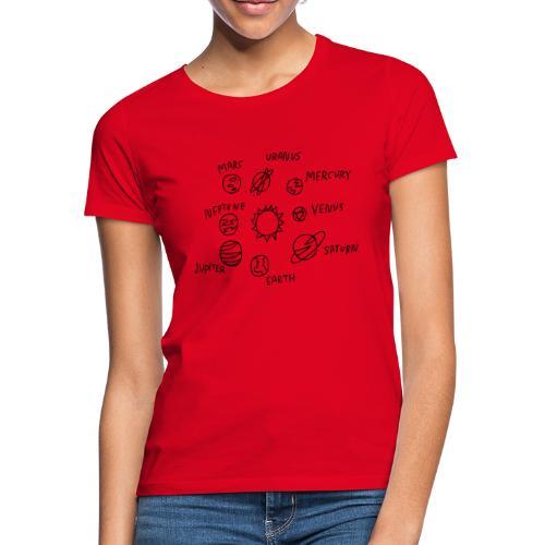 graphic solarsystem - Camiseta mujer