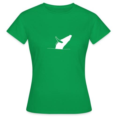 Jumping whale - white - Frauen T-Shirt