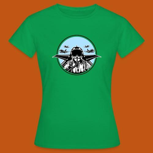 Jet Pilot / Kampfpilot 01_weiß Schwarz - Frauen T-Shirt