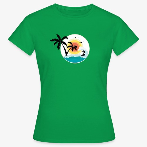 Surfing in paradise - Frauen T-Shirt