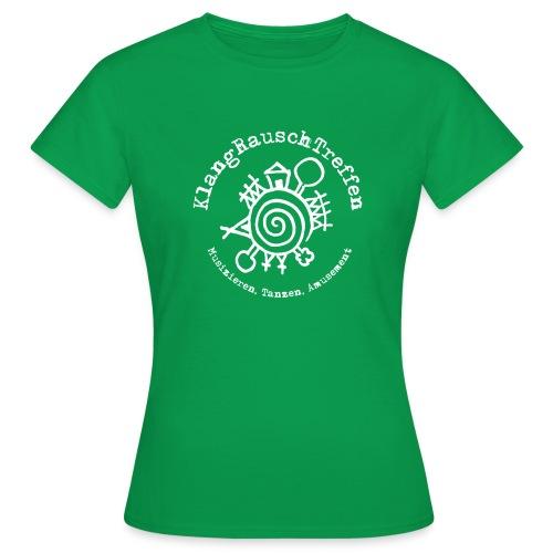 KlangRauschTreffen Logo mit Schrift rund - Frauen T-Shirt