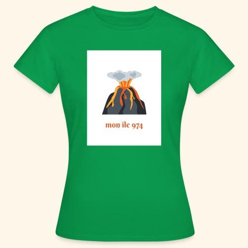 Volcan mon île 974 - T-shirt Femme