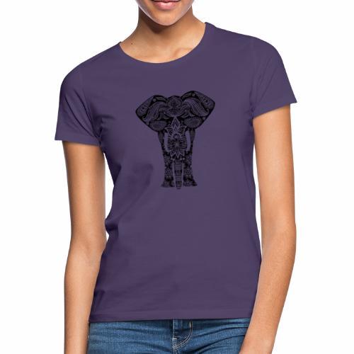 Ażurowy słoń - Koszulka damska