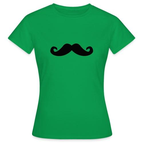 mustache - T-skjorte for kvinner