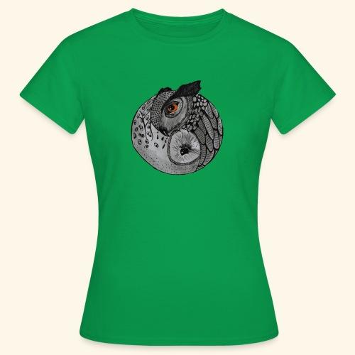 Chouette ying-yang - T-shirt Femme