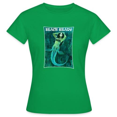 Vintage Pin-up Beach Ready Mermaid - Women's T-Shirt