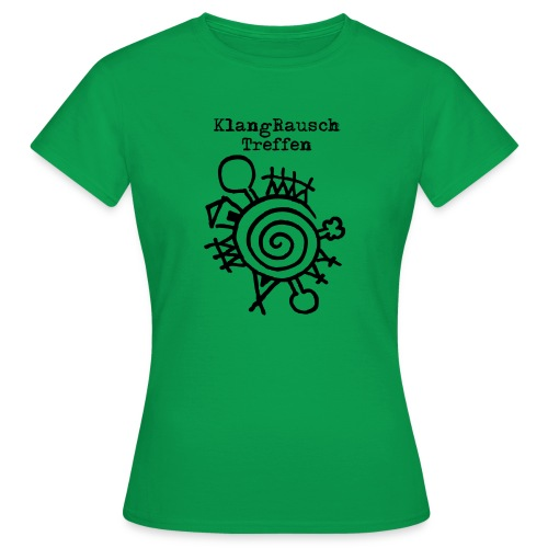 KlangRauschTreffen Logo mit Schrift - Frauen T-Shirt