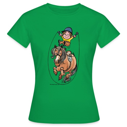Thelwell Reiter Und Pony Machen Seilspringen - Frauen T-Shirt