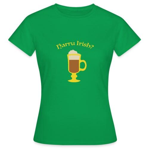 Harru Irish med kopp - T-skjorte for kvinner