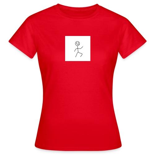 stick man t-shirt dance 1,0 - Dame-T-shirt