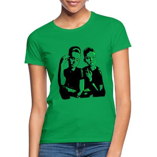 ATTITUDE<>WOKE (neon green) - Dame-T-shirt