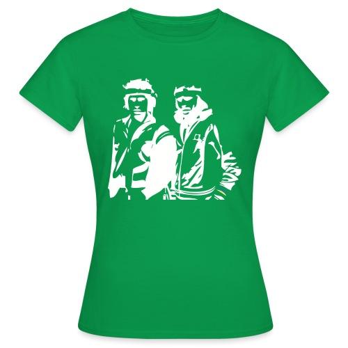 Borg McEnroe Retro Green+White - Naisten t-paita