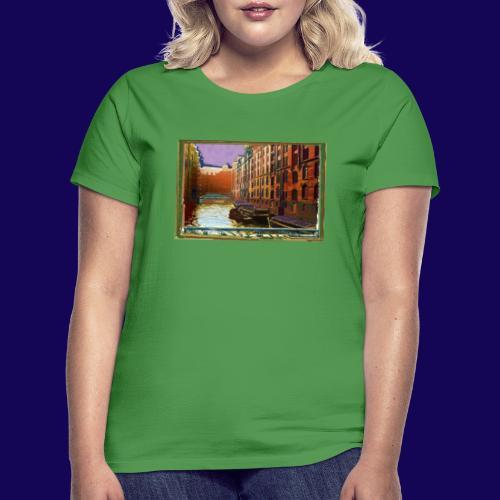 Hamburg: Speicherstadt als Künstler-Grafik - Frauen T-Shirt