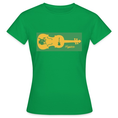 Tired of Playing Fiddle Yellow and Green - Women's T-Shirt