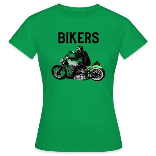 Green bikers - T-shirt Femme