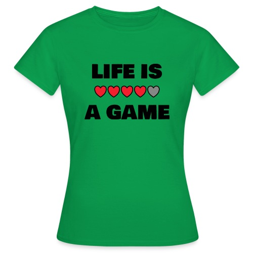 life is a game, black print - T-shirt dam