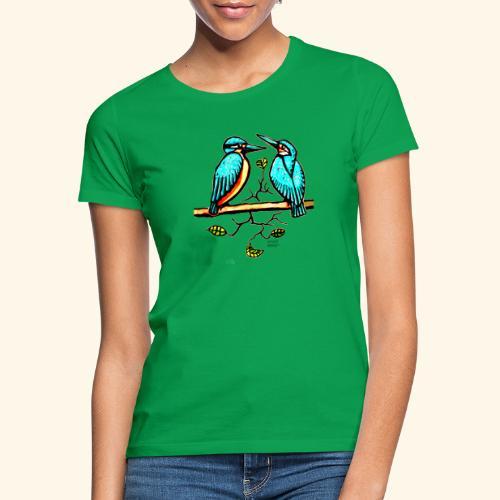 Eisvogel Paar farbe - Frauen T-Shirt