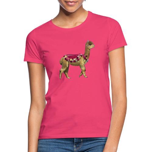 VINTAGE LAMA BLOEMEN - Vrouwen T-shirt