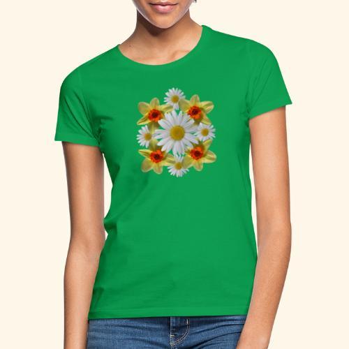 Narzissen Margeriten Osterglocken Blumen Blüten - Frauen T-Shirt