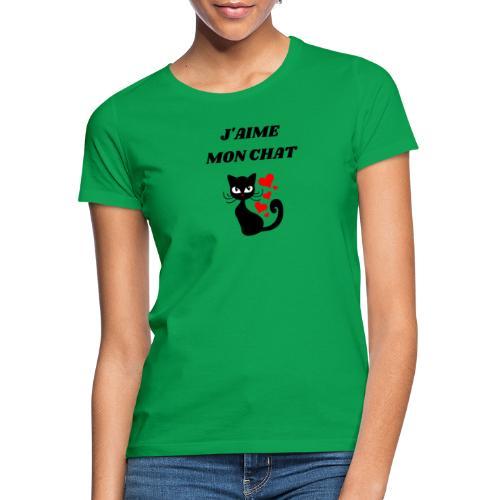 j aime mon chat - T-shirt Femme
